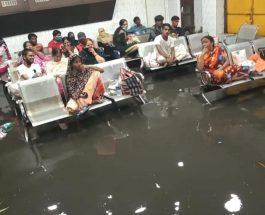 धनबाद नगर निगम व्यवस्था की पोल खुली, अस्पताल में घुसा पानी