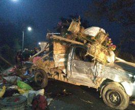 देवघर में पिकअप-ट्रक में जोरदार भिड़ंत, बिहार के चार श्रद्धालुओं की मौत, कई घायल