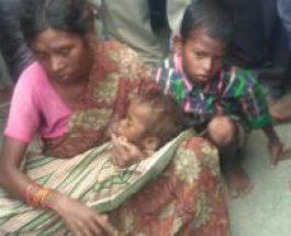 बीमार बच्चे को लेकर गरीब मां 10 किमी पैदल चली, गोद में मासूम ने तोड़ा दम