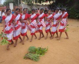 झारखंड में करमा की धूम, मांदर की थाप पर महिलाओं व युवतियों ने किया सामूहिक नृत्य